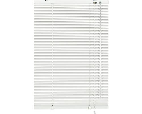 Store vénitien alu sans perçage blanc 40x130cm, support de serrage compris