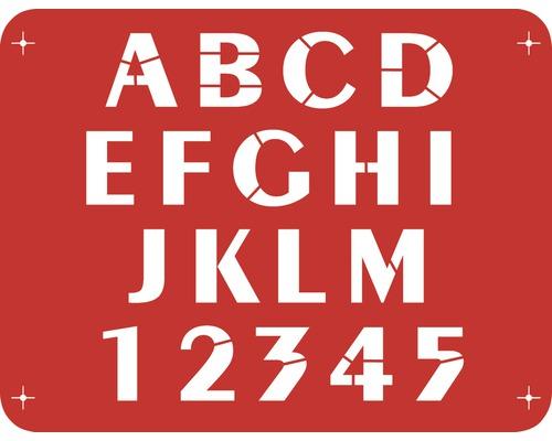 Pochoir lettres A - M 56 x 43 cm