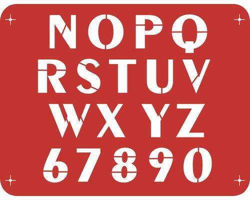 Pochoir lettres N - Z 56 x 43 cm