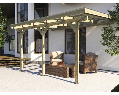 Toiture pour terrasse weka Turin taille2 424x257cm, traitée en autoclave par imprégnation