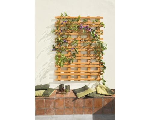 Treillis pour plantes Carré 120x160 cm, optique bois de cerisier