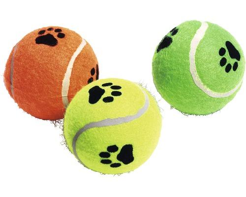 Jouet pour chien Karlie balle de tennis qui couine ø 6cm, différentes couleurs