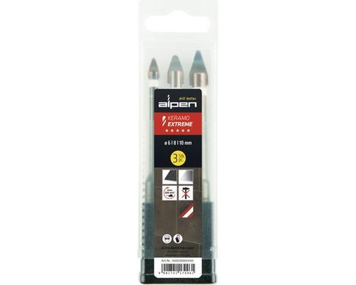 Jeu de forets Ø 6,8 & 10mm mm Keramo-Beton-Extreme lot de 3