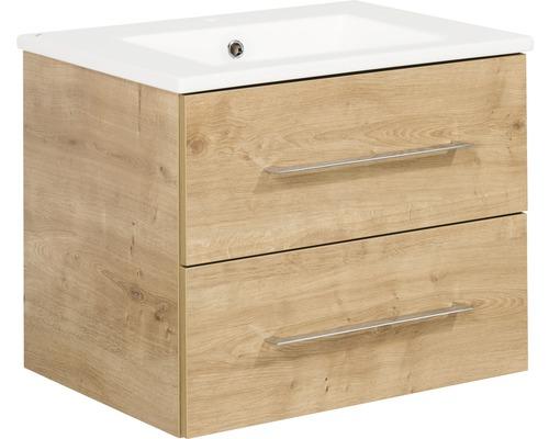 Kit de meubles de salles de bain Fackelmann B.perfekt chêne noueux 51x62.5 cm