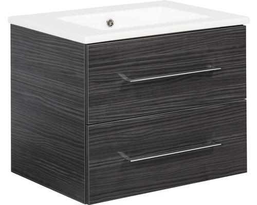 Kit de meubles de salles de bain Fackelmann B.perfekt Dark Oak 51x62.5 cm