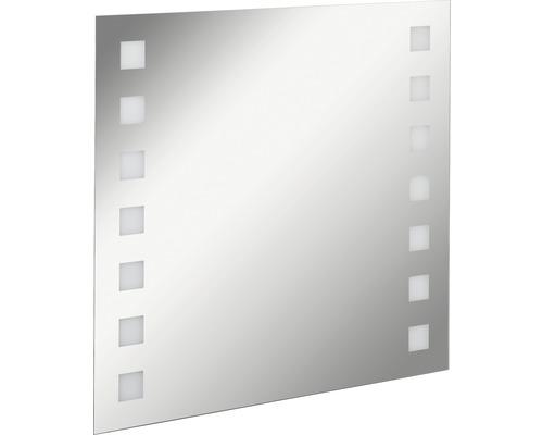 LED Badspiegel FACKELMANN Mirrors Karo 80x75 cm mit Ambientebeleuchtung IP 20