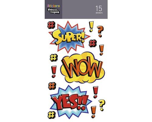 Mini stickers 022 Wow 15pces