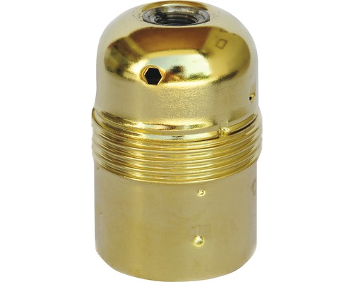 Culot de lampe E27 métallique, à filetage court en laiton