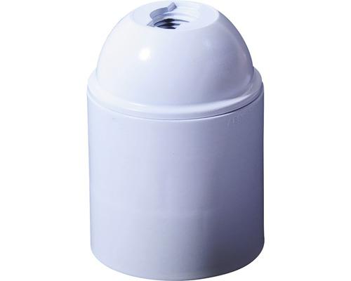 Culot de lampe E27 plastique blanc