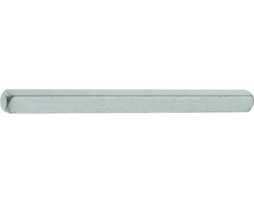 Tige carrée 10x110mm galvanisée fixation pour poignée