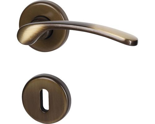 Rosettengarnitur Amos messing/brüniert/satiniert BB für Zimmertüren