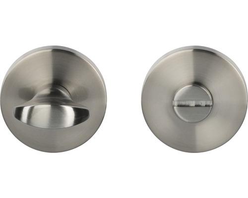 Rosace WC acier inoxydable/satiné Ø 50mm pour portes de salles de bains + WC