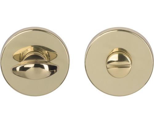 Rosace verrou WC laiton/poli Ø 55mm pour portes de salles de bains + WC