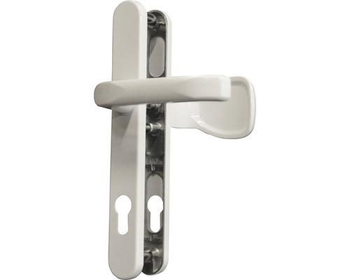 Poignée sur plaque étroite blanc/laqué PZ avec bouton + poignée pour porte d'entrée gauche/droite
