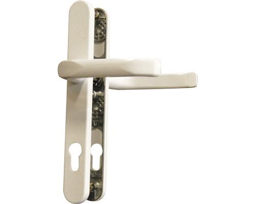 Poignée sur plaque étroite blanc/laqué PZ avec 2 poignées pour porte d'entrée gauche/droite