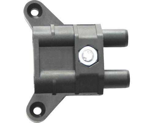 Logement de paumelle noir Ø 15mm pour charnières de porte