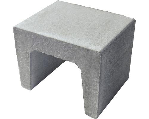 Pierre en U en béton grise 40x40x39.5cm