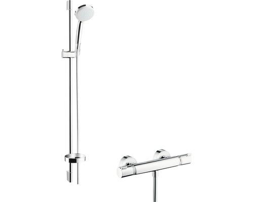Ensemble de douche hansgrohe Croma 100 Vario/Ecostat 27035000 avec robinet thermostatique