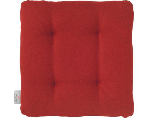 Sitzkissen Loneta rot 42x42x6 cm