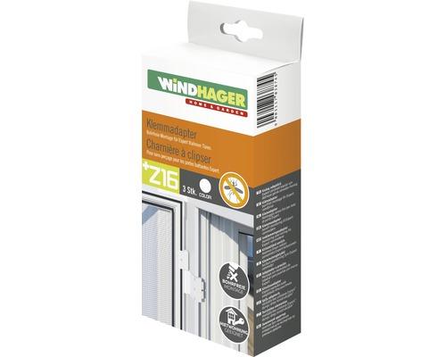Charnières à clipser pour moustiquaires de portes blanc lot de 3