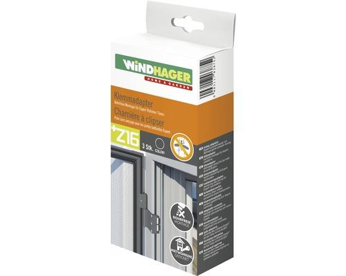 Charnières à clipser pour moustiquaires de portes anthracite lot de 3