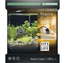 Aquarium DENNERLE Nano Cube Complete+ 20l - Style LED M avec éclairage LED, substrat, filtre, paroi arrière, thermomètre-thumb-0