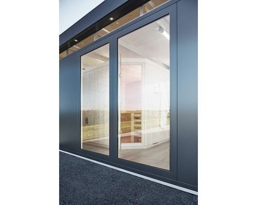 Élément en verre biohort CasaNova 83x180 cm gris foncé métallique