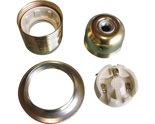 Culot de lampe en métal E27 avec filetage extérieur laitonné