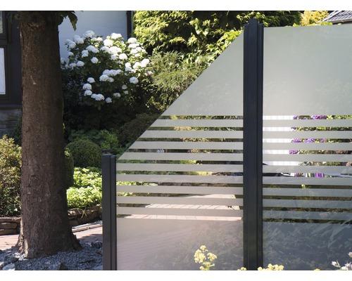 Elément de clôture Belfort rayures à gauche 90 x 180/90 cm