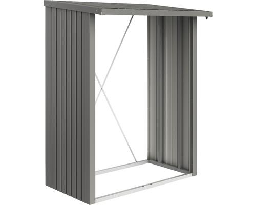 Abri bûches biohort WoodStock 150 157 x 102 x 199 cm gris quartz-métallique