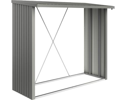 Abri bûches biohort WoodStock 230 229 x 102 x 199 cm gris quartz-métallique