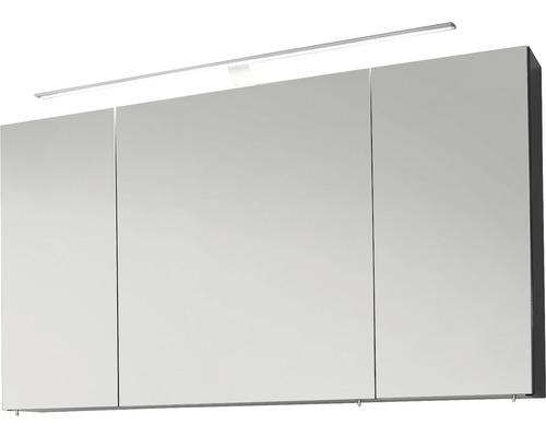 Armoire de toilette Marlin Bad 3040 anthracite largeur 120cm 3 portes brillant