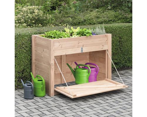 Jardinière surélevée avec meuble bas Douglas 127x69x95 cm