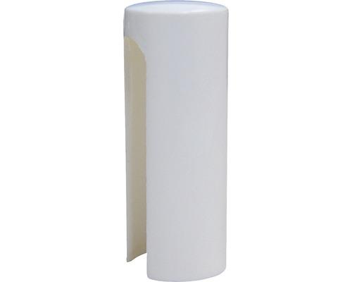 Caches pour paumelle Nylon blanc Ø 15 mm pour charnières de portes 4 pièces