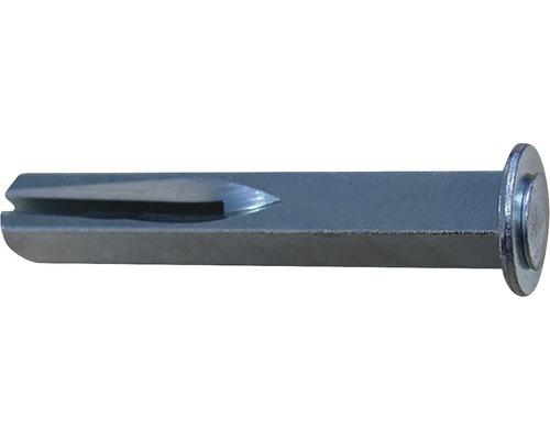 Tige de rechange avec plaque 8x60mm galvanisée fixation pour poignée