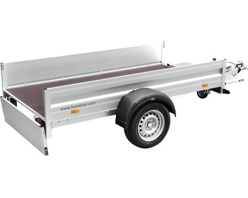 Remorque à un essieu Humbaur Alumaster Basic 2510x1310x350mm freinée avec roue jockey de remorque et amortisseurs de roue poids total adm. 1300kg