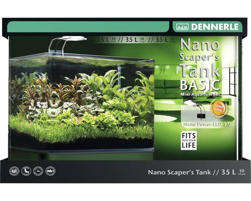 Aquarium DENNERLE Nano ScapersTank Complet 35 l avec éclairage LED 5.0, filtre et support