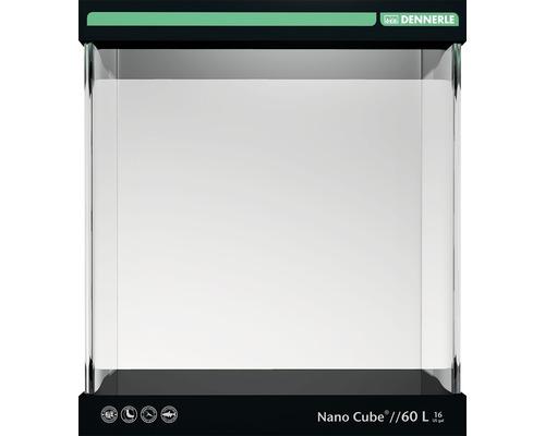 Aquarium DENNERLE Nano Cube 60l avec feuille d'arrière-plan, support en mousse