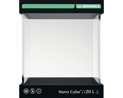 Aquarium DENNERLE Nano Cube 20l avec feuille d'arrière-plan, support en mousse