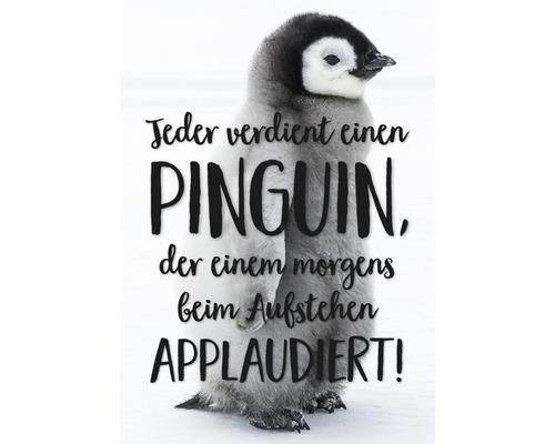 Carte postale Jeder verdient einen Pinguin 10,5x14,8 cm