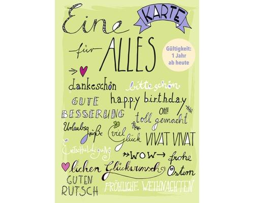 Carte postale Eine für alles Karte 10,5x14,8 cm-0