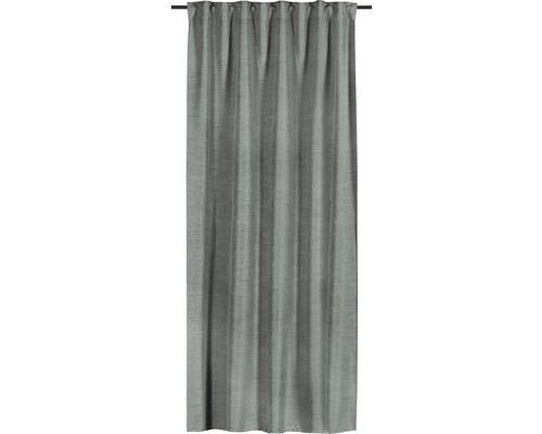Rideau avec galon fronceur Perfect Groove gris 135x255 cm