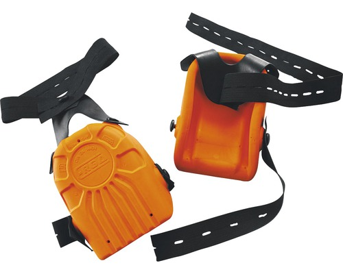 Protège-genoux orange avec protection anti-lame DIN EN 14404, 2 pièces