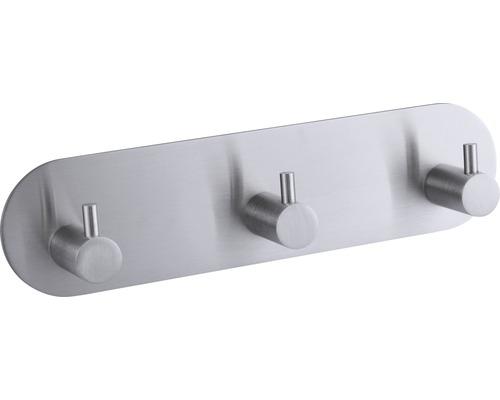 Triple barre à crochets form&style ronde à coller acier inoxydable