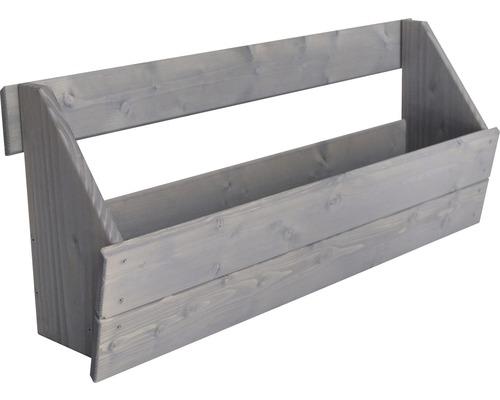 Jardinière surélevée verticale Boîte de jardinière surélevée pour élément de clôture Joris 88x20,5x37 cm gris clair