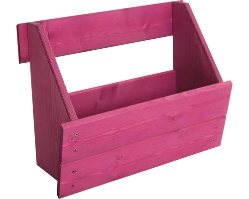 Jardinière surélevée verticale Boîte de jardinière surélevée pour élément de clôture Joris 48x20,5x37 cm rose
