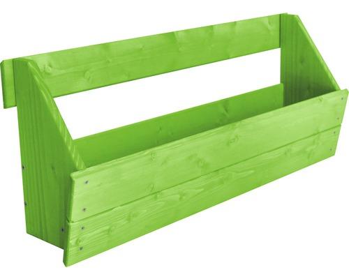 Jardinière surélevée verticale Boîte de jardinière surélevée pour élément de clôture Joris 88x20,5x37 cm vert clair
