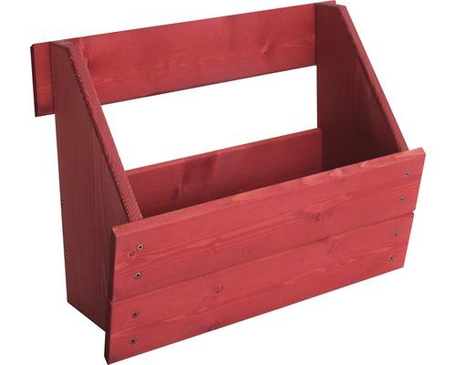Jardinière surélevée verticale Boîte de jardinière surélevée pour élément de clôture Joris 48x20,5x37 cm rouge Suède