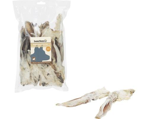 Compléments alimentaires pour chiens Beeztees Oreilles de lapin avec poils 200g