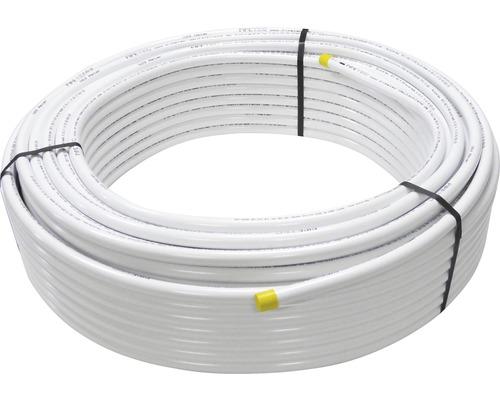 Tuyau composite alu 16x2,0 blanc 10m, enroulé